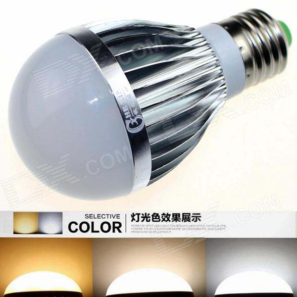 CXHEXIN S27 E27 10W 600lm 20-5630 LED Dimmable Light Lamp Bulb - White + Silver (AC 85~265V) cxhexin e27cx24 e27 7w 3000k 500lm 24 5630 smd led warm white light white ac 85 265v