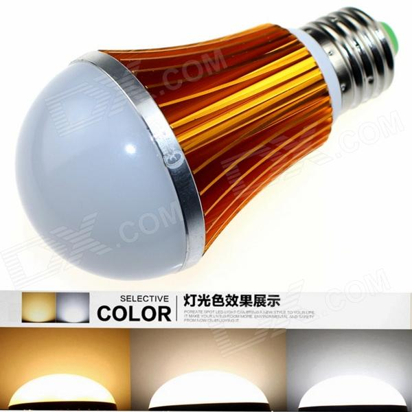 CXHEXIN G27A E27 10W 600lm 20-5630 LED Dimmable Light Lamp Bulb - White + Golden (AC 85~265V) cxhexin e27cx24 e27 7w 3000k 500lm 24 5630 smd led warm white light white ac 85 265v