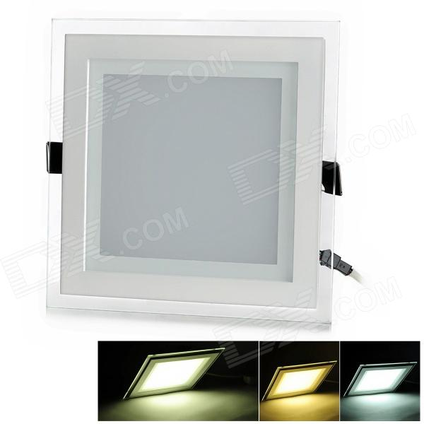 CXHEXIN MB15+15 30W 1800lm 60-SMD 5630 LED Dimmable Square Floral Panel Light - White (AC 85~265V) cxhexin e27cx24 e27 7w 3000k 500lm 24 5630 smd led warm white light white ac 85 265v