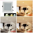 CXHEXIN MB15 15 30W 1800lm 60-SMD 5630 LED Dimmable Square Floral Luz del panel - Blanco (AC 85 ~ 265V)