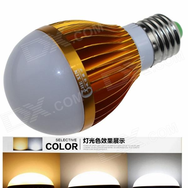 CXHEXIN G27 E27 10W 600lm 20-5630 LED Dimmable Light Lamp Bulb - White + Golden (AC 85~265V) cxhexin e27cx24 e27 7w 3000k 500lm 24 5630 smd led warm white light white ac 85 265v