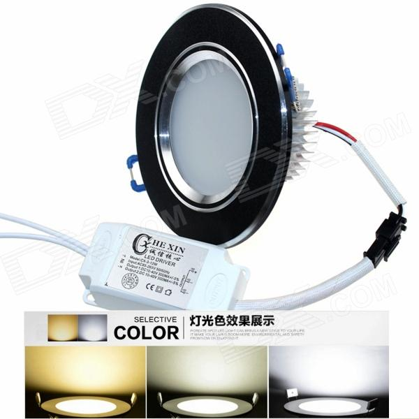 CXHEXIN 2.5'' B5+5 10W 600lm 20-SMD 5630 LED Dimmable Ceiling Lamp - White + Black (AC 85~265V)