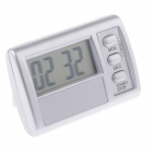 "AYA AYA-15 Portable 1.5"" LCD Digital Kitchen Timer Count-Down Clock w/ Loud Alarm - Silver (1 x G13)"