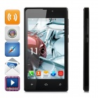 "X-980 MT6572 Cortex A7 Dual-Core 1.2GHz Android 4.2 GSM Bar Phone w/ 4.0"" WVGA / Wi-Fi / GPS - Black"