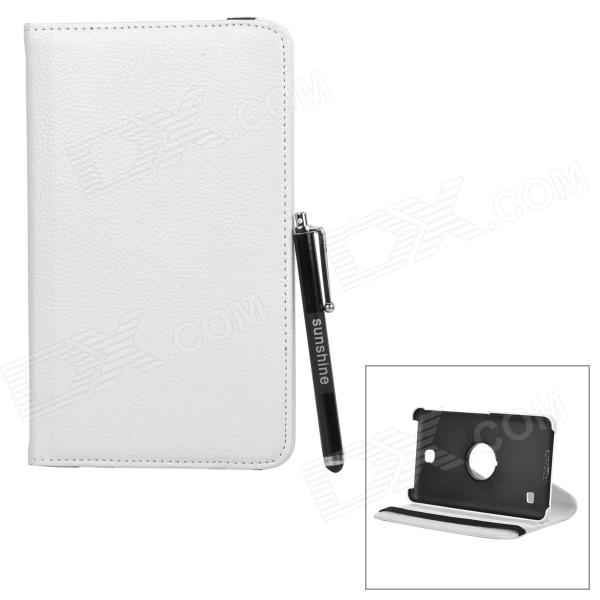 360' Rotary Flip Open PU Case + Stylus Pen Set for Samsung Galaxy Tab 4 7.0 T230 / T231 / T235 ultra thin business stand smart pu leather cover for samsung galaxy tab a t280 t285 7 0 tablet case with magnet free stylus pen