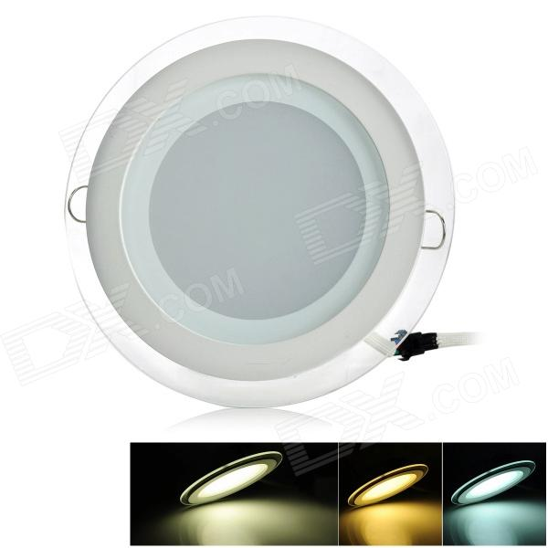CXHEXIN MB12+12 24W 1400lm 48-SMD 5630 LED Dimmable Round Floral Panel Light - White (AC 85~265V) cxhexin e27cx24 e27 7w 3000k 500lm 24 5630 smd led warm white light white ac 85 265v