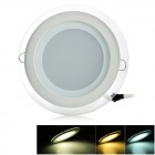 CXHEXIN MB12+12 24W 1400lm 48-SMD 5630 LED Dimmable Round Floral Panel Light - White (AC 85~265V)
