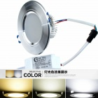 CXHEXIN H6+6 3'' 12W 720lm 24-5630 SMD LED Dimmable Light Ceiling Lamp - Silver + White (AC 85~265V)