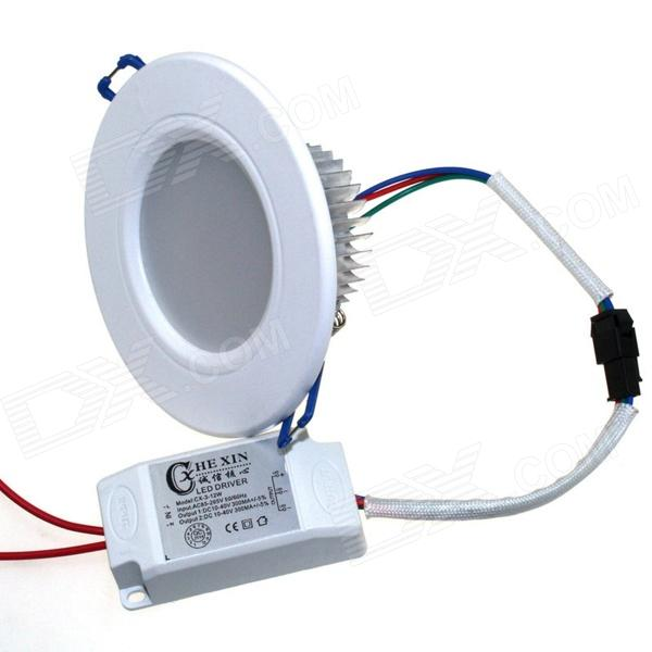 CXHEXIN 2.5'' W5+5 10W 600lm 20-SMD 5630 LED Dimmable Ceiling Lamp - White (AC 85~265V)