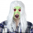 Halloween Scary Ghost Face Mask - White + Green