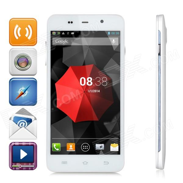 ThL W200C Octa-Core 720P 5.0 IPS Android 4.2 WCDMA Phone w/ OTG, 8GB ROM, GPS - White s5 mtk6592 octa core android 4 4 2 wcdma bar phone w 5 0 ips qhd 8gb rom gps otg white