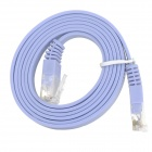 RJ45 (8P8C) Male to Male High Speed Cat.6a Flat Lan Network Cable - Light Blue (100cm)