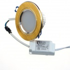 CXHEXIN G6+6 3'' 12W 720lm 24-5630 SMD LED Dimmable Light Ceiling Lamp - White + Golden (AC 85~265V)