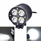 SolarStorm XT40 4 x Cree XM-L2 T6 2000lm 4-Mode White Bicycle Light - Black (4 / 6 / 8 x 18650)