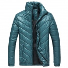 MY110 Men's Polyester Winter Warm Zippered Coat - Deep Blue (XXL)