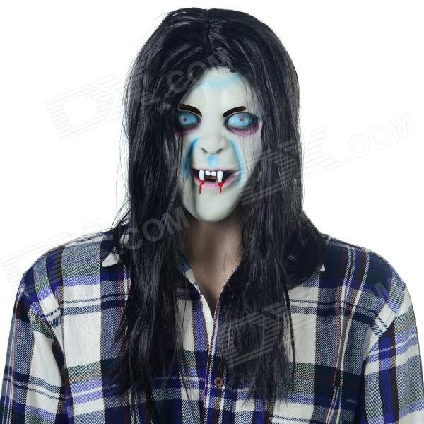 Halloween Scary Ghost Style Face Mask - Black + Multi-Color