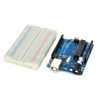 Breadboard + Resistors + LEDs Learning Module Set for Arduino UNOR 3 - Multicolored