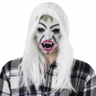Halloween Scary Ghost Face Mask - White + Multi-Color