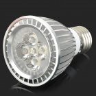 E5-LIGHTING XRX-702 E27 6W 420lm 3000K 5-LED Warm White Light Spotlight - Silver (AC 110V)