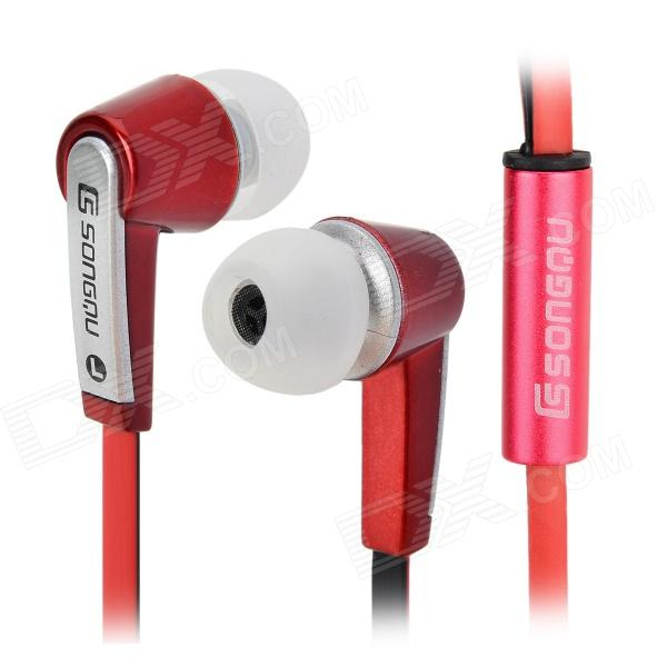 SONGQU SQ-302MP 3.5mm In-ear Earphone - Red + Silver