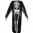 Halloween Cosplay Skeleton Style Costume - Black