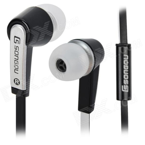 SONGQU SQ-303MP 3.5mm In-ear Earphone - Black + Silver