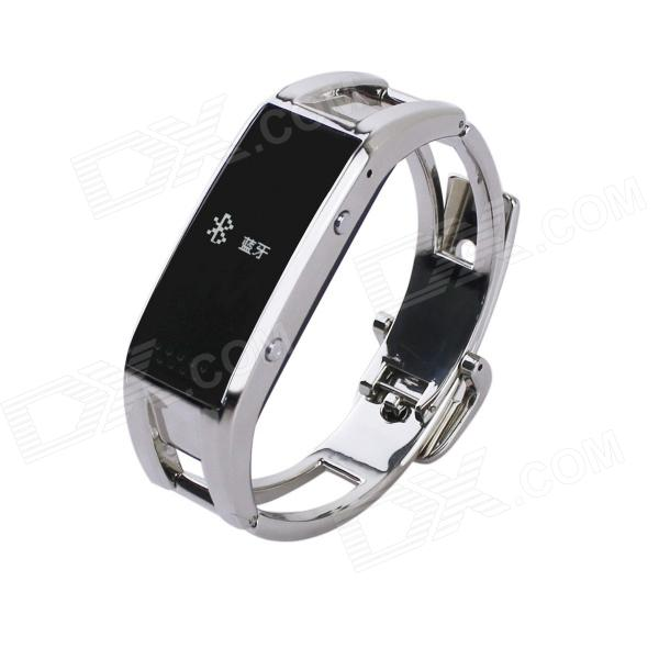 OLED Bluetooth V3.0 Smart Bracelet Watch w/ Anti-lost / Pedometer - Silver u80 smart watch with pedometer function