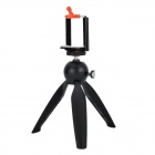 YUNTENG Mini Plastic + Aluminum Alloy Selfie Tripod + Mount Set for GoPro Hero 2 / 3 / 3+ - Black