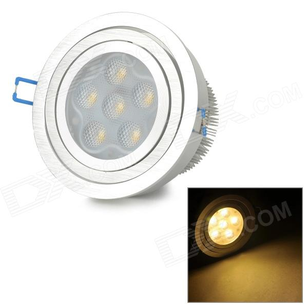 12W 950lm 3000K 6-LED Warm White Light Ceiling Lamp - Silver (AC 85~265V) wbr 0012 10w 950 1000lm cob led shallow cup fixture ceiling light with white shell warm white 85 265v