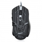 R.horse RH2800 3200dpi USB 2.0 Wired LED Gaming Mouse-Musta