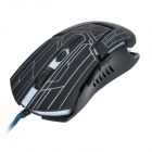 R.horse RH2800 3200dpi USB 2.0 Wired LED Gaming Mouse - Black
