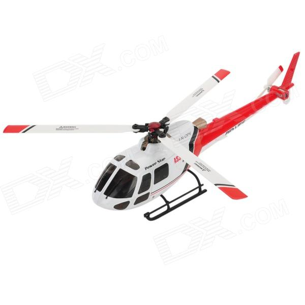WLtoys V931BNF AS35 2.4GHz 6-CH Outdoor Radio Control Brushless R/C Helicopter w/ Gyro - White + Red mjxr c f45 4 ch 2 4ghz radio control single propeller r c helicopter w gyro red white black