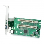 PCI-Express to 2X PCI Adapter Card - Green + Black