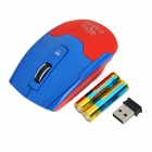 R.horse RF-6060C 1600dpi 2.4GHz Wireless USB 2.0 Gaming Mouse - Deep Blue + Red (2 x AAA)