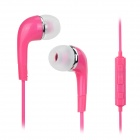 YL In-Ear Earphones w/ Mic. / Line Control for Samsung Galaxy N7100 / Note 3 N9000 - Pink (112cm)
