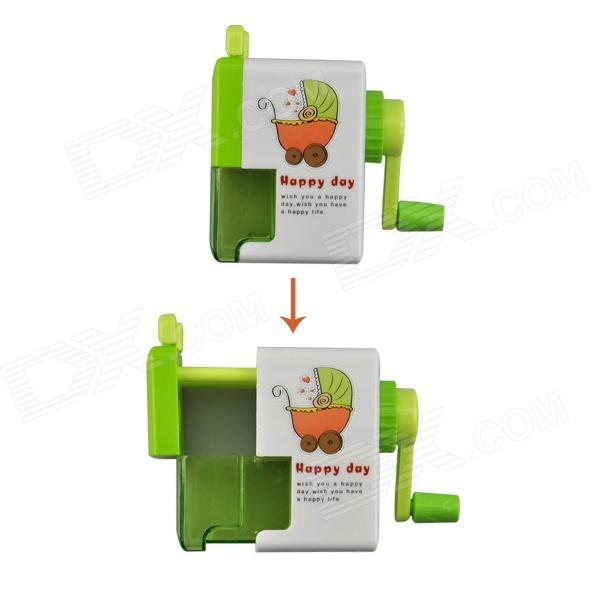 Angibabe abcd321 Office / School Stationery Plastic Pencil Sharpener - Green + White