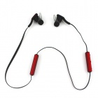 Drahtlose Bluetooth V3.0 Stereo-In-Ear-Ohrhörer w / Mic. / Musik / Video / Voice Prompt - Schwarz + Rot
