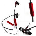 Wireless Bluetooth V3.0 Stereo In-Ear Earphone w/ Mic. / Music / Video / Voice Prompt - Black + Red