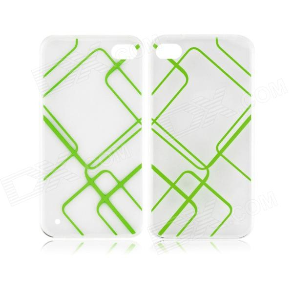 Angibabe 0.3mm Check Pattern TPU Soft Case for IPHONE 5 / 5S - Green angibabe 2 in 1 protective tpu pc back case for iphone 6 plus 5 5 inch green