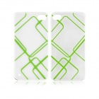 Angibabe 0.3mm Check Pattern TPU Soft Case for IPHONE 5 / 5S - Green