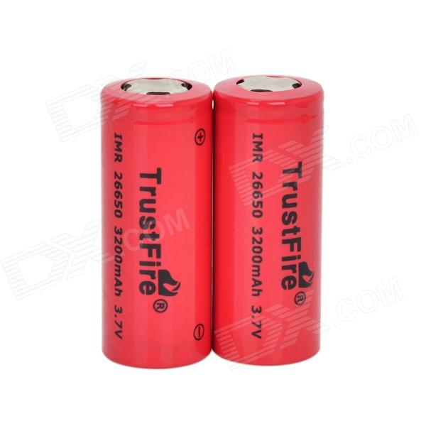 TrustFire High-rate Discharge 3.7V 3200mAh 20C Lithium-ion 26650 Batteries - Red (2 PCS)