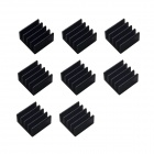 ZnDiy-BRY A4988 Cooling Aluminum Heatsinks for 3D Printer A4988 Stepper Driver - Black (8 PCS)