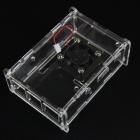 B+ V31 Acrylic Case + V31 Cooling Fan for Raspberry Pi - Transparent