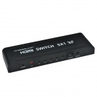CHEERLINK L3HDSW0501 5 x 1 Full HD / 3D 1080P HDMI V1.4a Switch w/ IR Remote Control - Black