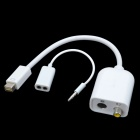 CHEERLINK Mini DVI Male to RCA Female / S Terminal + Bisected Audio Cable Set - White