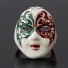 Unique Stylish Peking Opera Mask Style Ring - White + Red