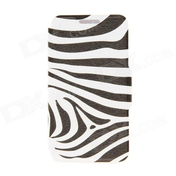 Kinston Zebra Pattern PU Leather Full Body Case with Stand for Motorala Moto X - White + Black kinston love for you pattern pu leather full body case with stand for motorala moto x