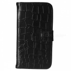 Angibabe Crocodile Pattern Protective Genuine Leather Case Cover Stand for Samsung Galaxy S5 - Black