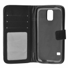 Crocodile Pattern Genuine Leather Case  for Samsung Galaxy S5 - Black