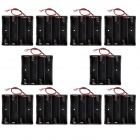 CM01 DIY Capless 4-18650 Battery Holder Cases Boxes w/ Lead Line - Black (10 PCS)